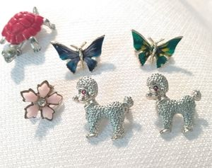 Vintage Brooches Lot of 6